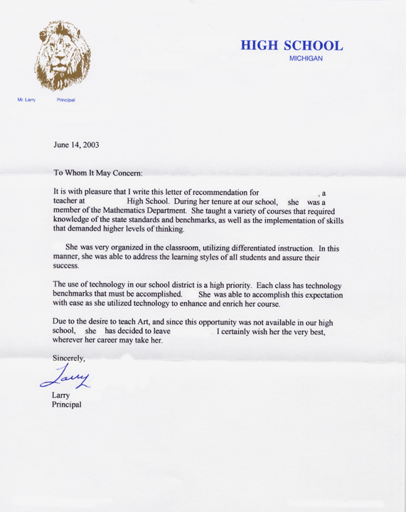recommendation letter for high school student inspirational recommendation letter for high school 52872